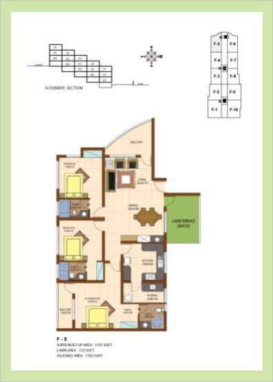Artech Srirema, Trivandrum Layout : Plan-F5