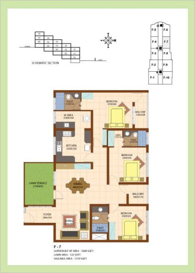 Artech Srirema, Trivandrum Layout : Plan-F7