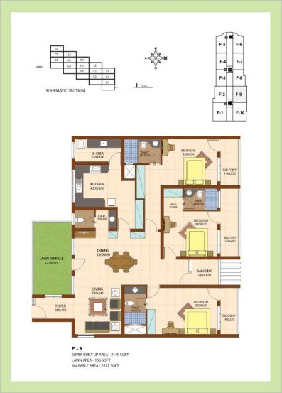 Artech Srirema, Trivandrum Layout : Plan-F9