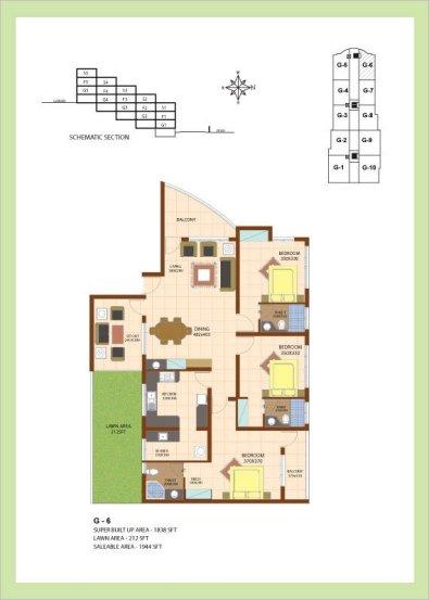 Artech Srirema, Trivandrum Layout : Plan-G6