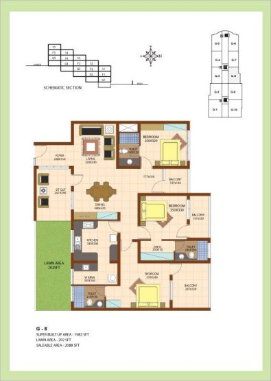 Artech Srirema, Trivandrum Layout : Plan-G8