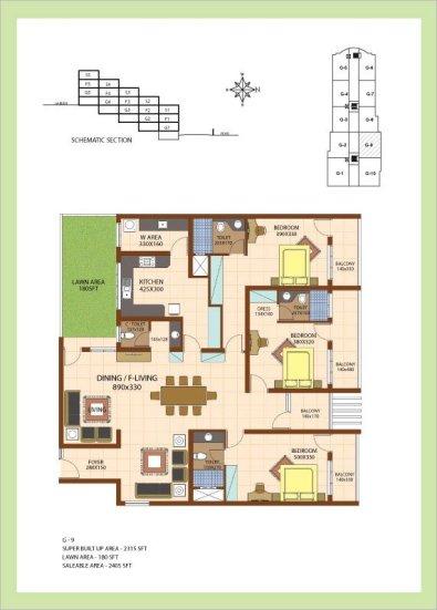 Artech Srirema, Trivandrum Layout : Plan-G9