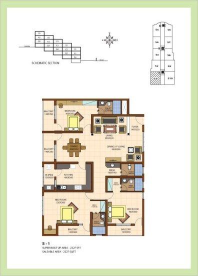 Artech Srirema, Trivandrum Layout : Plan-S1