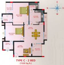 Artech Lake View, Trivandrum Layout Type - C