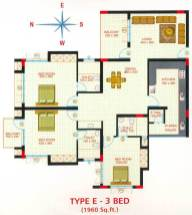 Artech Lake View, Trivandrum Layout Type - E
