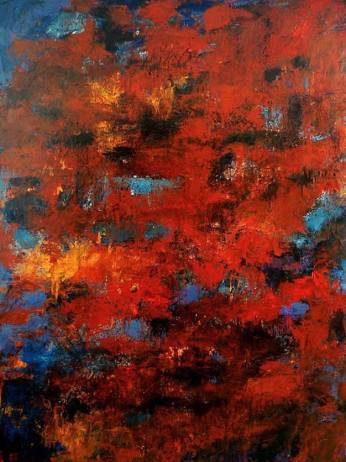 moon river – 160 x 120cm – acrylic and pigments on canvas – 2007