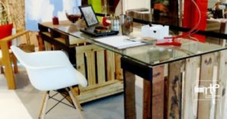 móveis de pallets escrivaninha