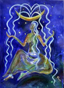 """Anahita – Persisch-semitische """"hilfreiche, unbefleckte"""" Fruchtbarkeitsgöttin, Mondgöttin und Göttin des Regens und des Wassers"""