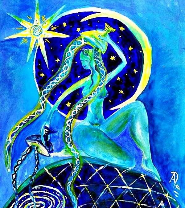 Sirona – Keltische Göttin der Quellen, des Nachthimmels, der Fruchtbarkeit und der Heilung, Sternengöttin