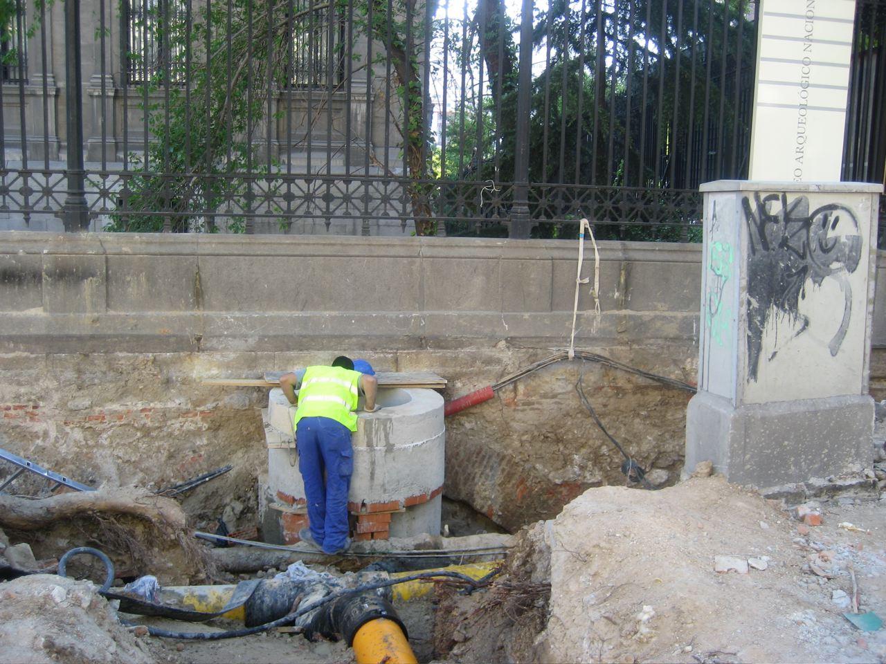 Obras en la calle de Serrano hoy 6 de mayo 2009