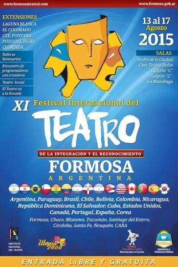 Cartel del XI Festival Internacional de Teatro de Formosa.