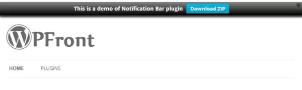 Plugin WPFront Notification Bar