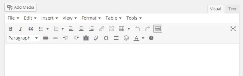 Plugin WordPress TinyMCE Advanced