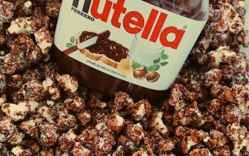pipoca gourmet com nutella