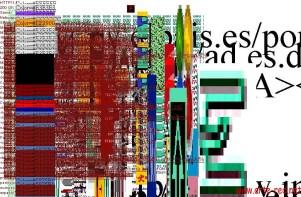 """La Web www.elpais.es deconstruida en 1998 por """"The Shredder"""" de Mark Napier."""