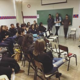 Primeiro encontro de Sandra Saio com estudantes do Ensino Médio