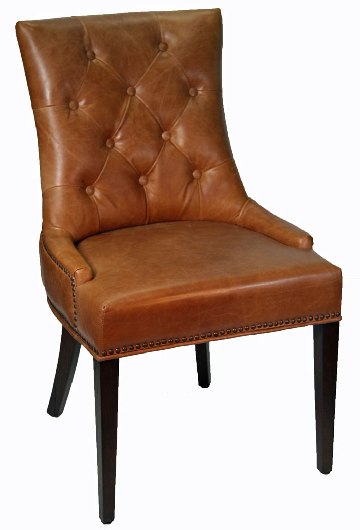 Tufted Accent Chair Leather