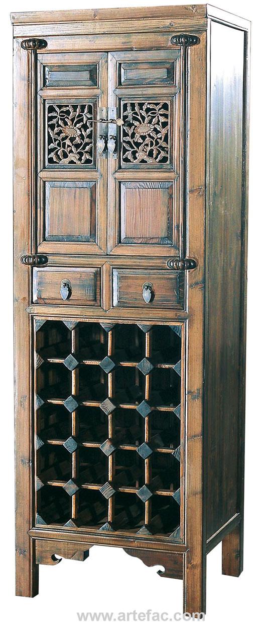 BR 20502 Antique Wine Cabinet