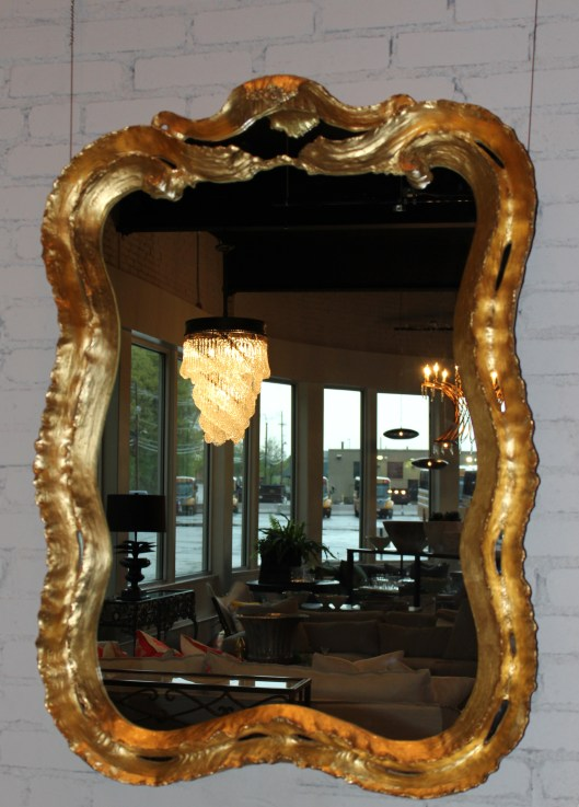 new wave mirror in gold