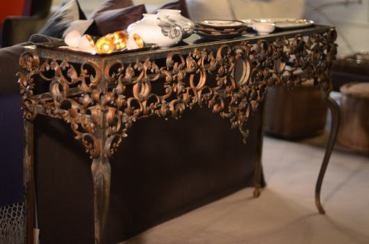 scroll and mirrors console - designed and artisan crafted in the usa.  stunning in a front entry, as a sofa table or perhaps a buffet? custom sizes available.