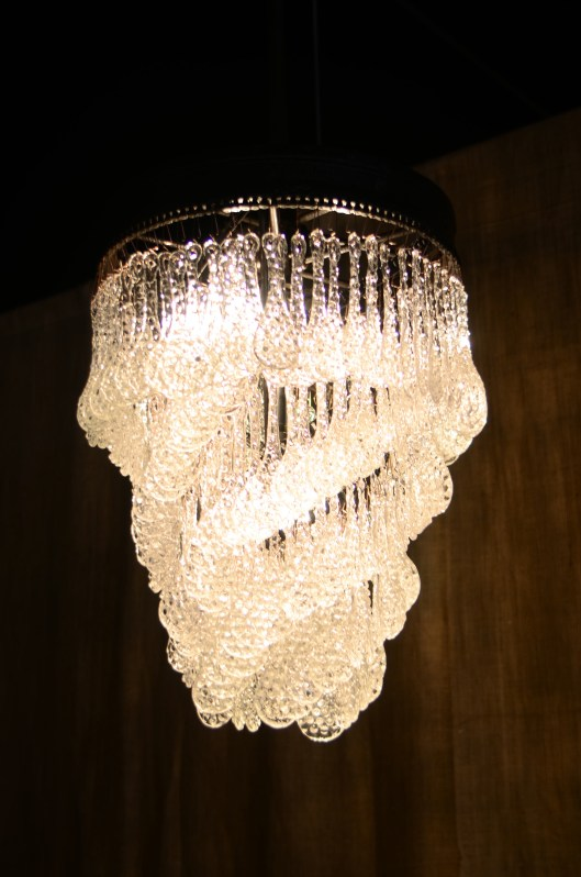 rain + chain chandelier.  crafted in the usa from repurposed industrial pieces and pressed recycled glass.  custom sizes available.