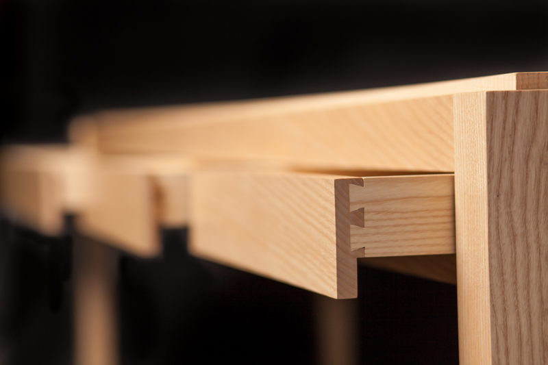Ash Bar|Console 3 drawer detail