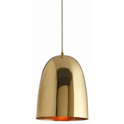"""Polished brass exterior with a copper-plated interior - creates a warm glow.   LG 12""""h x 9.5""""diameter   $ 430. SM 10""""h x 8"""" diameter $ 310. 20% off orders placed Nov. 1st and Nov. 2nd 30% off floor samples"""