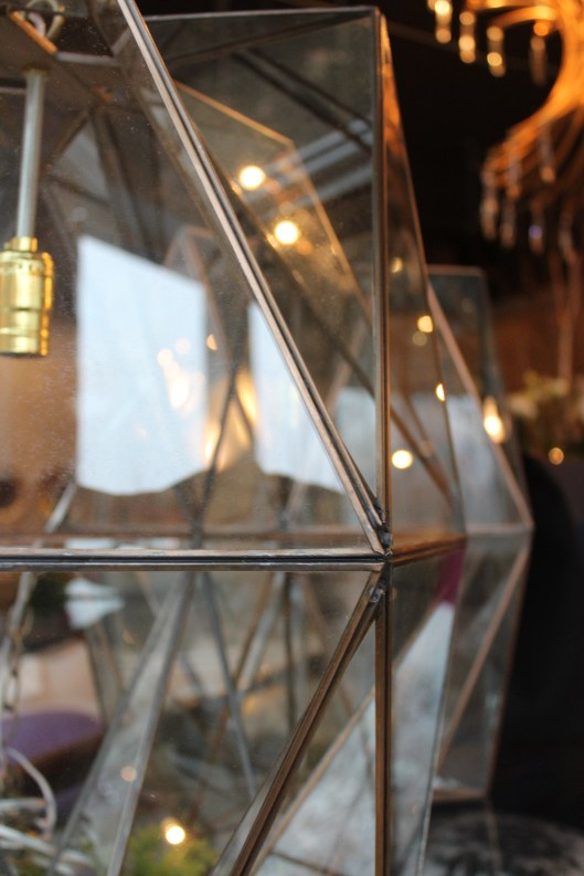"""folded glass"" pendant lights copper + glass handmade in mexico LG 20"" w x 22""h  $ 984. SM 10""w x 10""h $ 520. Nov. 1st + 2nd only:  special orders 20% off 25% off floor samples"