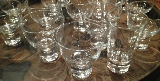 sake - vodka - wine - what's your pleasure?  great shapes - mix it up - made in japan $ 12 each. set of 4 makes a fun gift