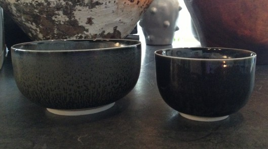 the hermit bowls + cups in charcoal $ 18 - $ 22