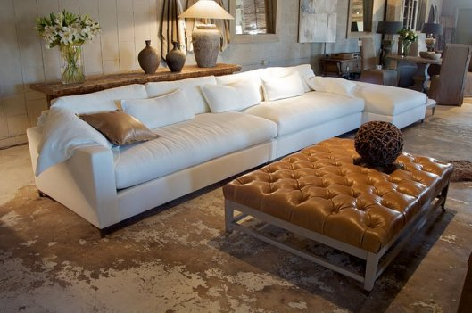 Gregoire Sectional + Claudia Ottoman