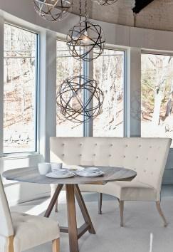 caroline dining banquette, fermette dining table
