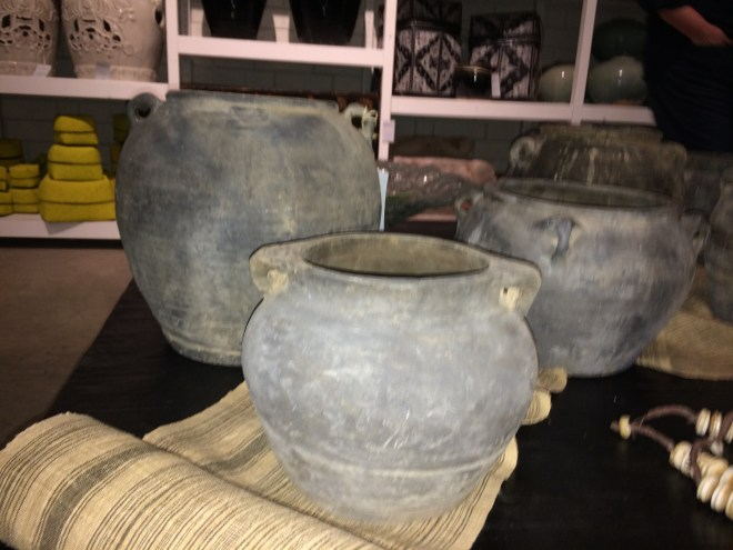 black vessels antique with handles