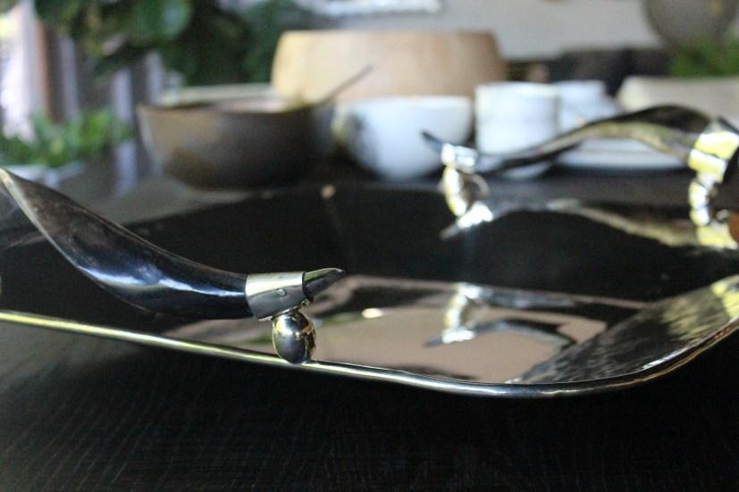 Silver Tray Black Goat horn 2