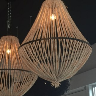 natural wood beaded light