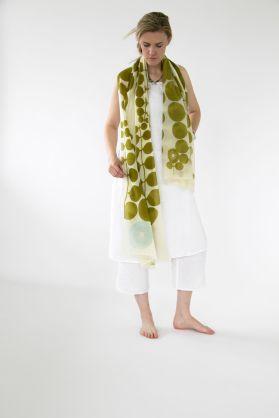 pw scarf green cream