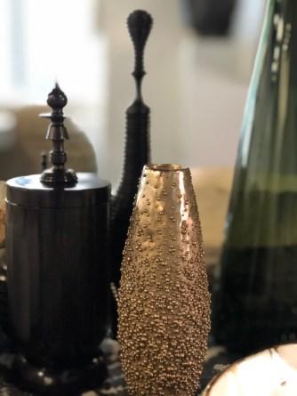 tablesetting-bronze + ebony-artefact