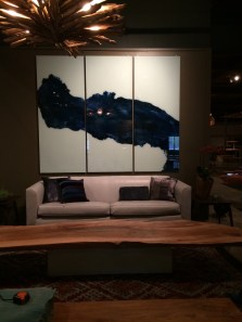 NEW DAWN - a triptych on glass...mineral pigmented paints - just plain gorgeous