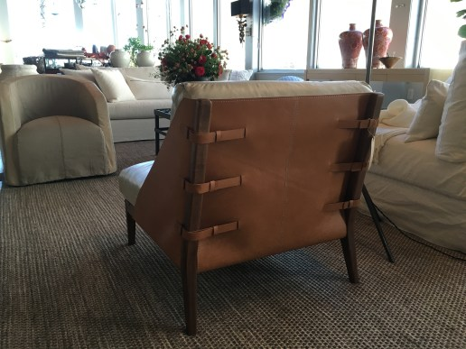 luxurious leather chair back