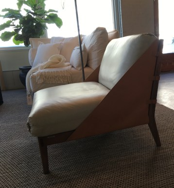 luxurious leather chair side