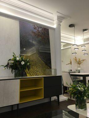 Vista Salón reforma de Artefactum Interiorismo en Sevilla