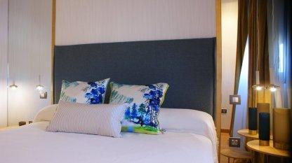 Cojineria Dormitorio principal ático aljarafe artefactum interiorismo Sevilla C