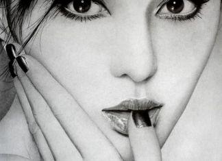 retrato mujer lápiz