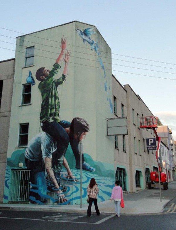 El arte callejero de Fintan Magee 2
