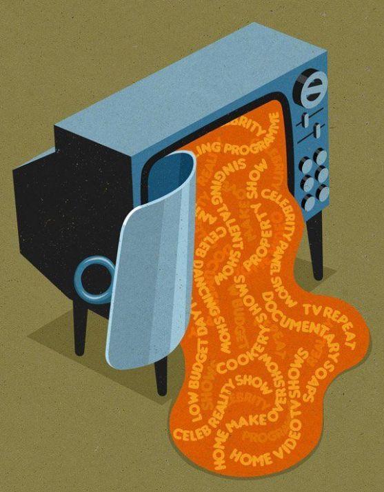 Sociedad actual - Ilustraciones de John Holcroft 3