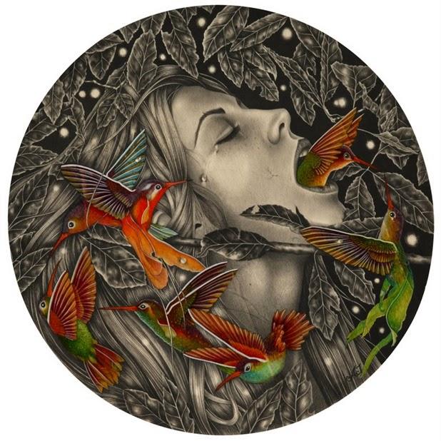 Dibujos carboncillo Alessia Iannetti 8