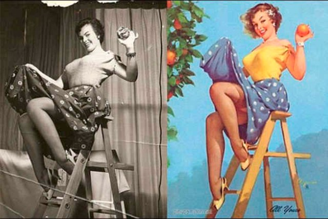 photoshop antiguo pin up 2