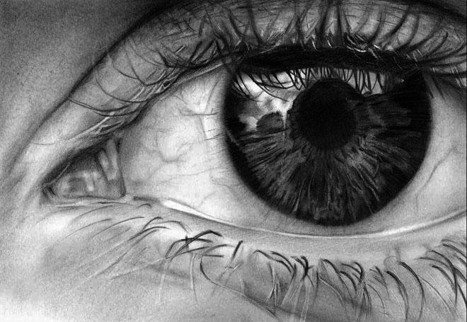 dibujos de ojos realistas 10