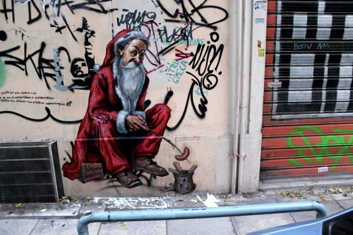 Santa claus graffiti 3