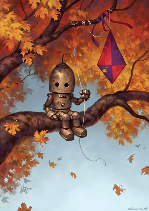 solitaria-vida-robot-ilustraciones-matt-dixon 1